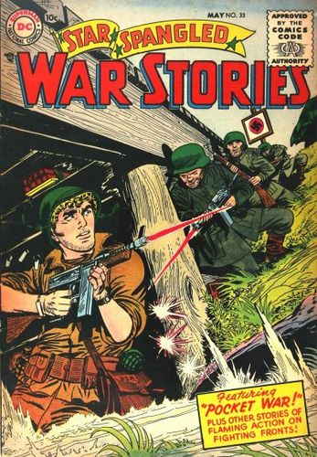 Star Spangled War Stories (1952) #33, cover by Jerry Grandenetti.