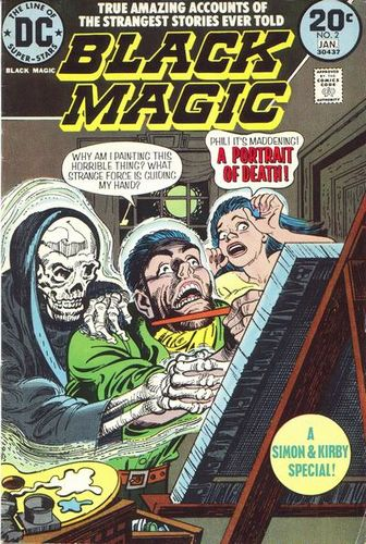 Black Magic (1973) #2, cover by Jerry Grandenetti.