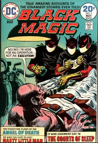 Black Magic (1973) #3,cover penciled by Jerry Grandenetti & inked by Creig Flessel.