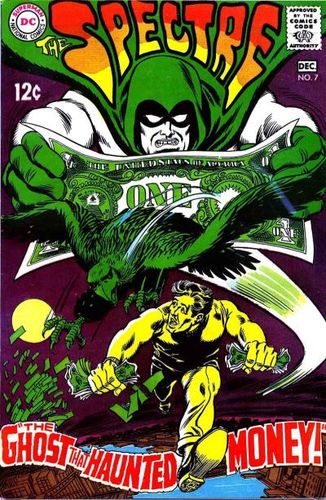 Spectre (1967) #7, cover penciled by Jerry Grandenetti & inked by Murphy Anderson.