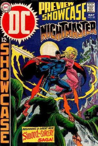 Showcase (1956) #82, cover by Joe Kubert. Featured the first appearence of Nightmaster.