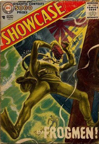 Showcase (1956) #3, cover by Jerry Grandenetti.