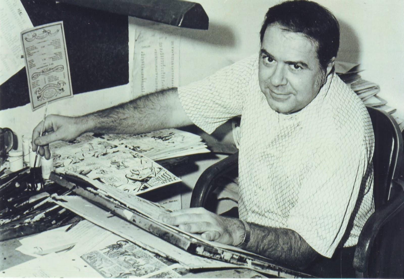 Mike Esposito at his desk.