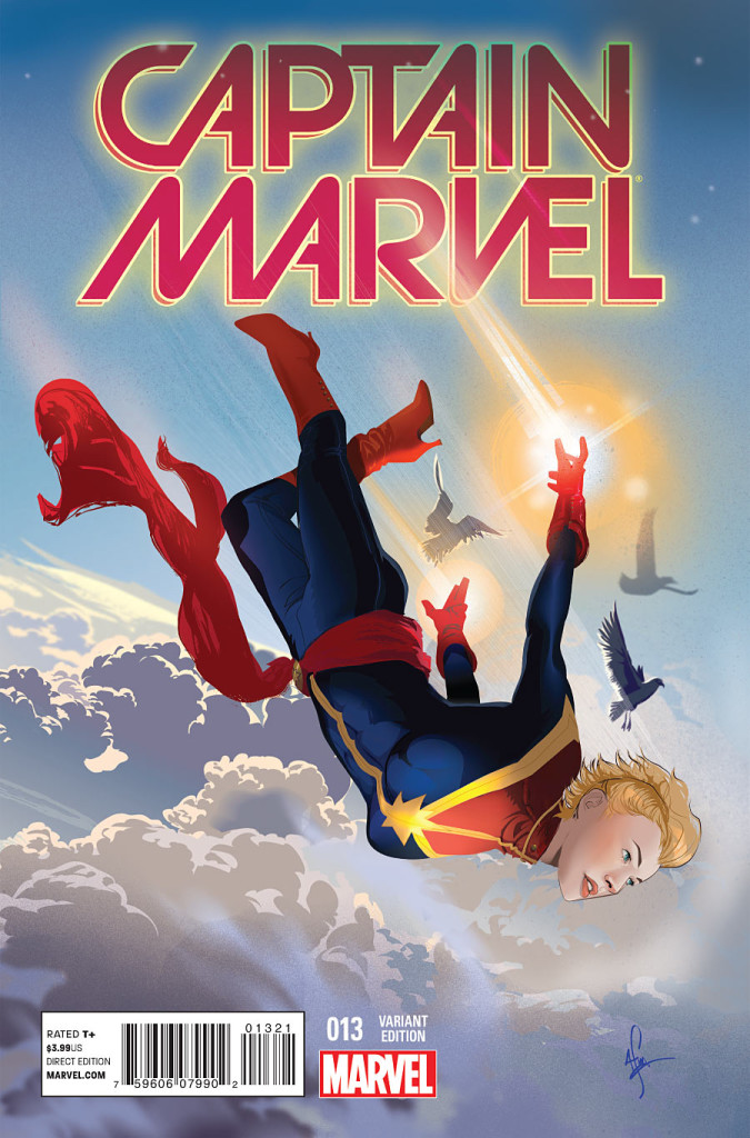 Captain Marvel (2014) #13 Women of Marvel variant, cover by Afua Richardson.