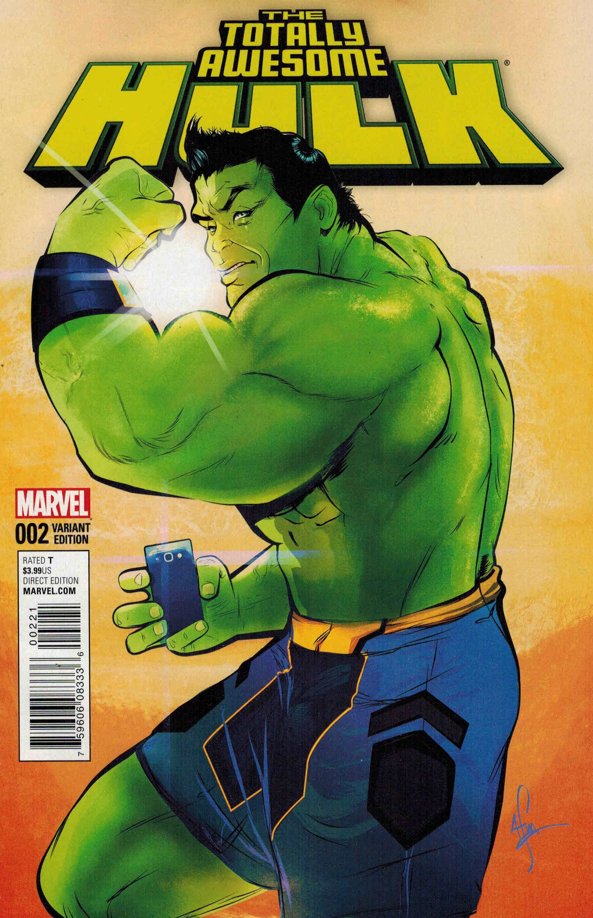 Totally Awesome Hulk (2016) #2 Incentive variant, cover by Afua Richardson.
