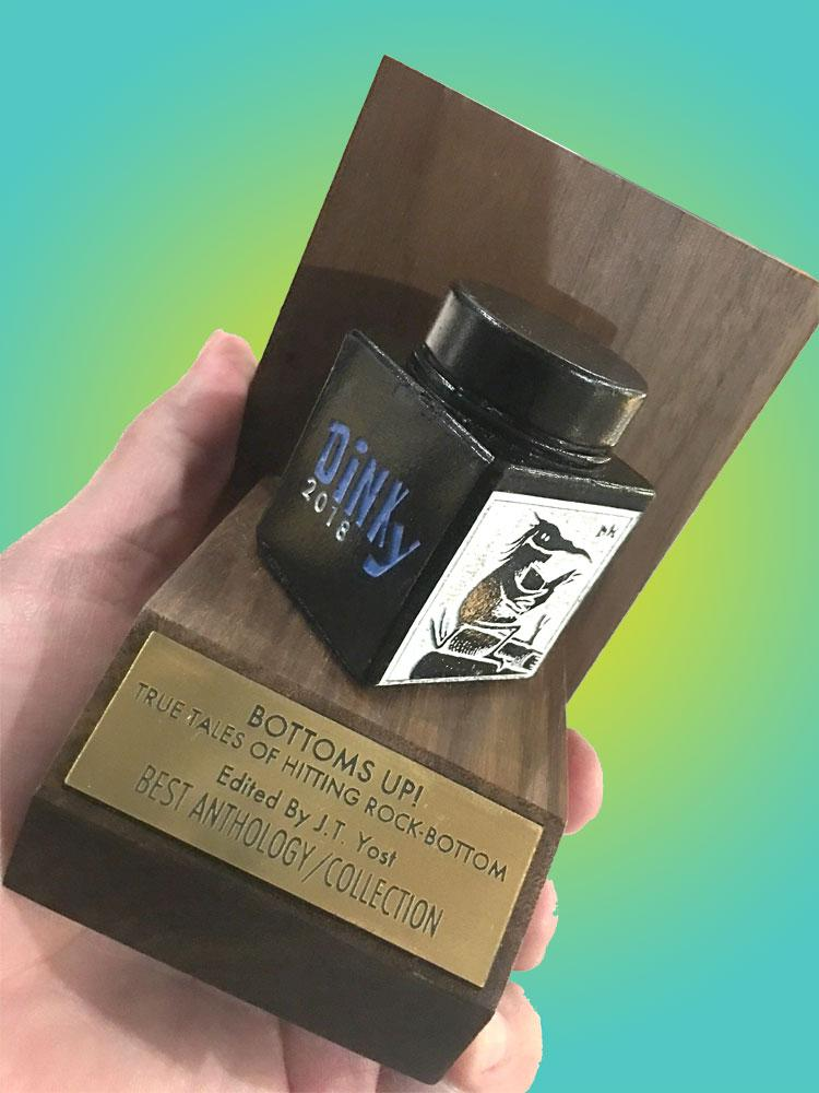 The 2018 DiNKy Award for Best Anthology/Collection goes to Bottoms Up!