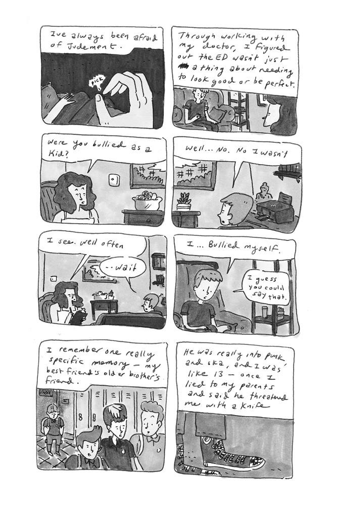 Tearing Yourself Down  pg2, drawn by Kevin Budnik.
