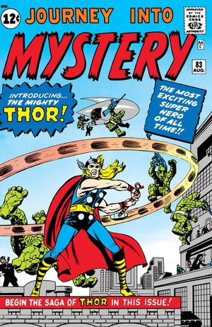 Journey Into Mystery (1952) #83, cover penciled by Jack Kirby, inked by Joe Sinnott, & colored by Stan Goldberg.