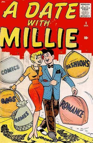 A Date With Millie (1959) #1, cover by Stan Goldberg.