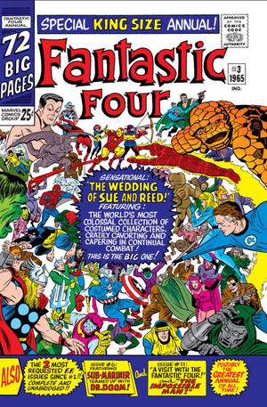 Fantastic Four Annual (1963) #3, cover penciled by Jack Kirby, inked by Mike Esposito, & colored by Stan Goldberg.