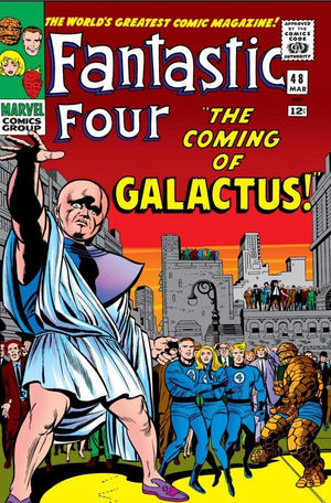 Fantastic Four (1961) #48, cover penciled by Jack Kirby, inked by Joe Sinnott, & colored by Stan Goldberg.