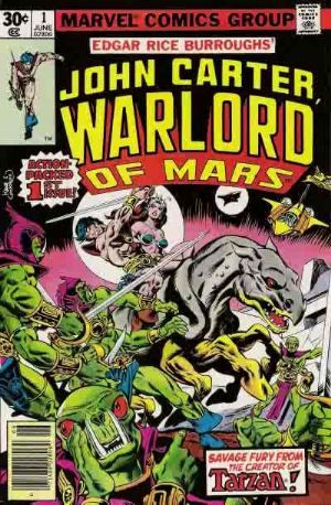 John Carter Warlord of Mars (1977) #1, written by Marv Wolfman.