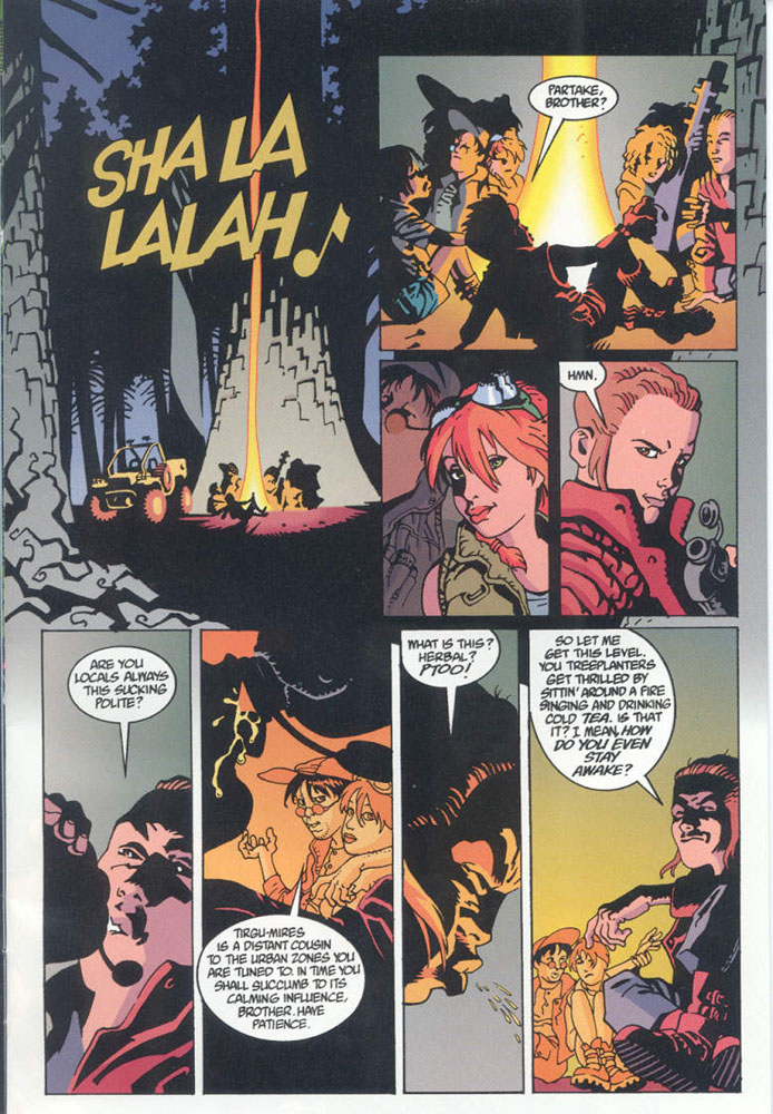 Aliens_ Wraith (1998) #1 pg.05, lettered by Clem Robins.