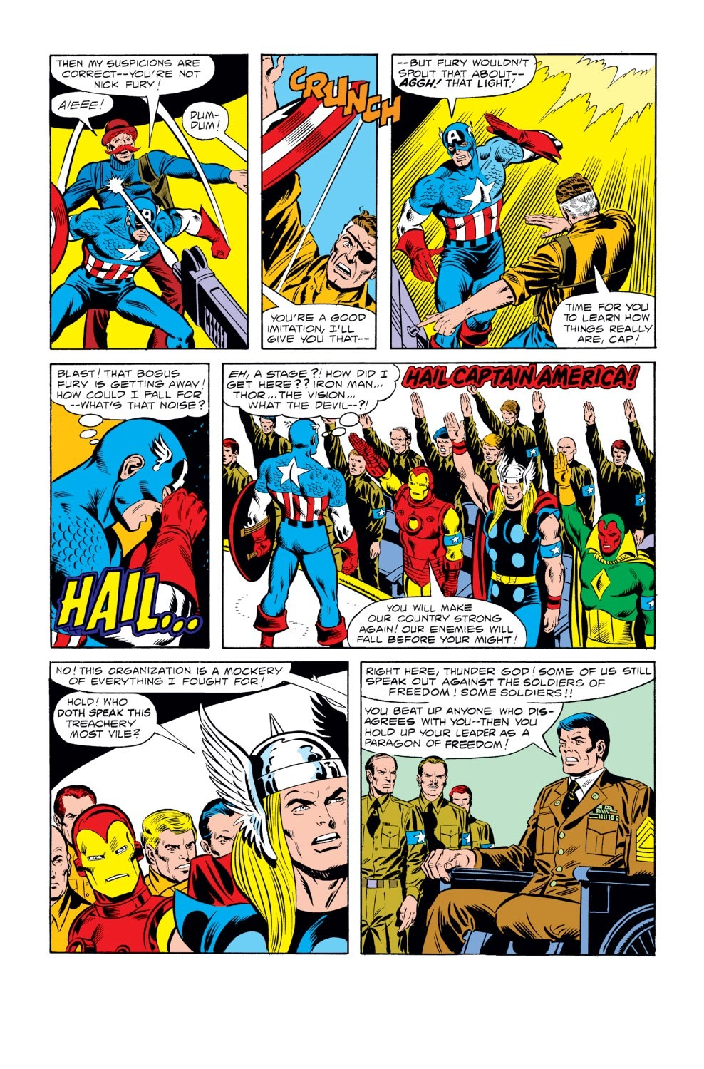 Captain America (1968) #242 pg.09, lettered by Clem Robins.
