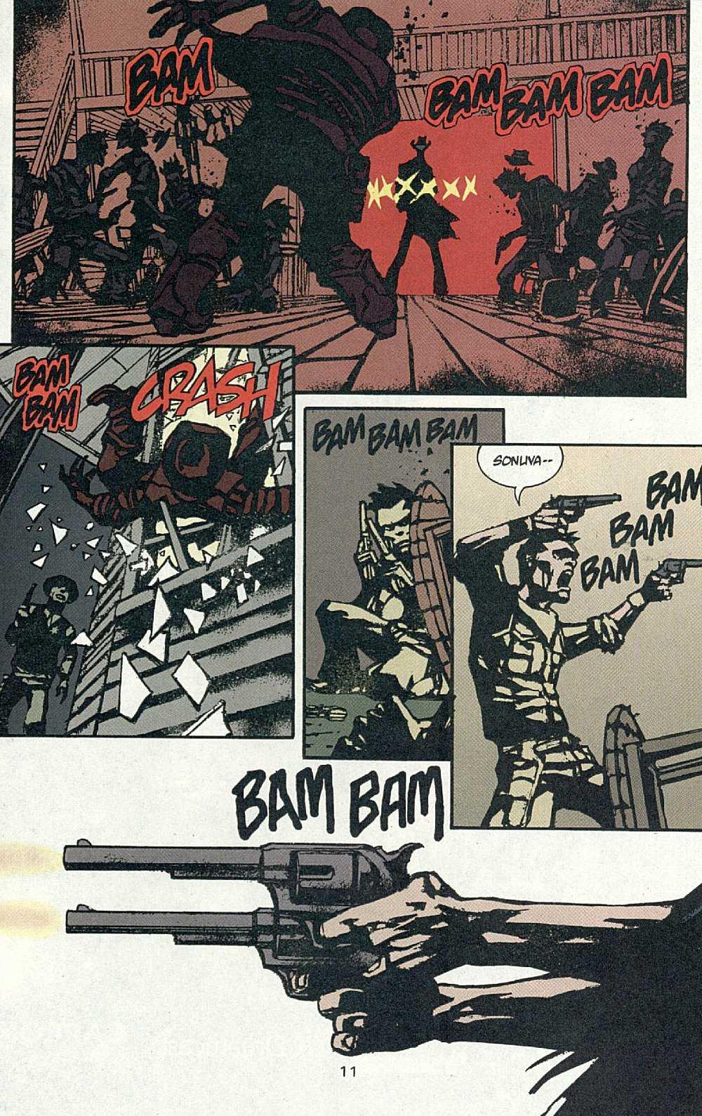 El Diablo (2001) #1 pg.14, lettered by Clem Robins.