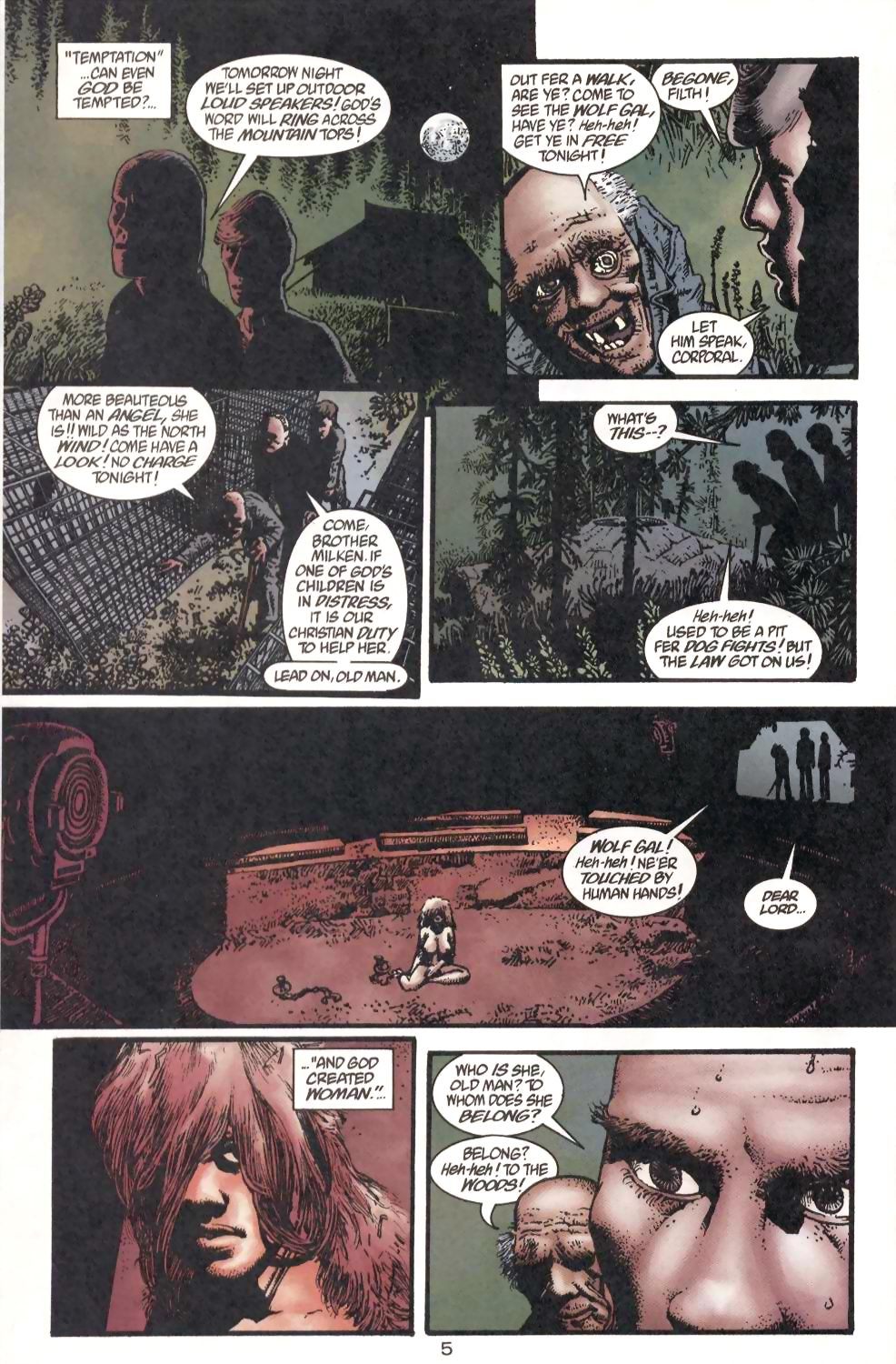 Flinch (1999) #1 pg.20, lettered by Clem Robins.
