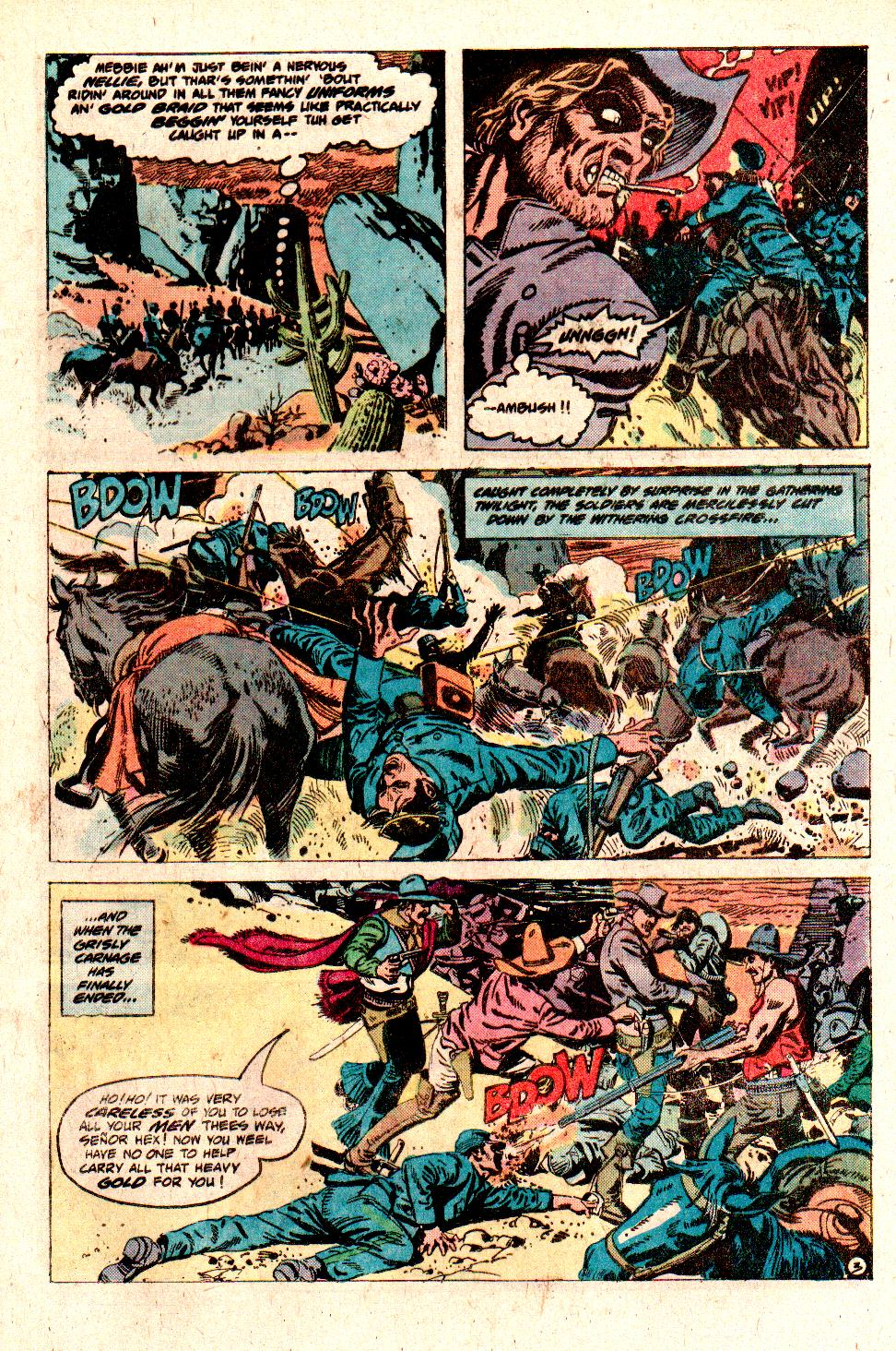 Jonah Hex (1977) #10 pg.05, lettered by Clem Robins.