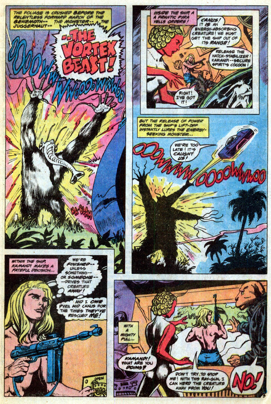 Kamandi, The Last Boy On Earth (1972) #55 pg.04, lettered by Clem Robins.