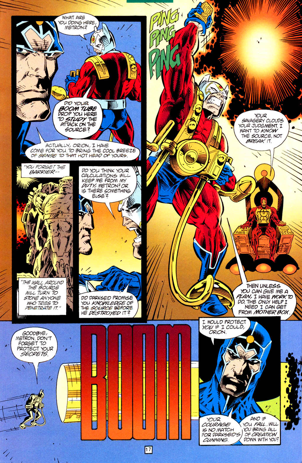 New Gods (1995) #1 pg.17, lettered by Clem Robins.
