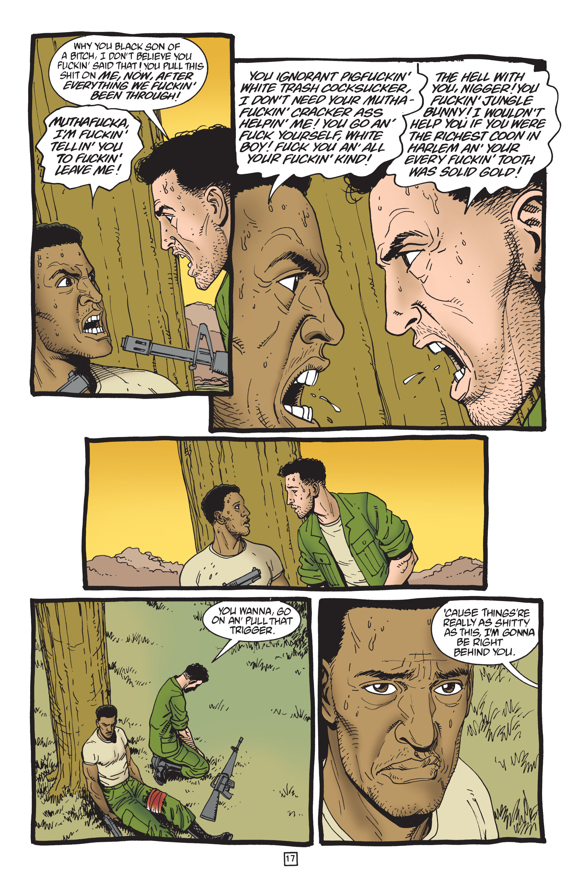Preacher (1995) #50 pg.18, lettered by Clem Robins.