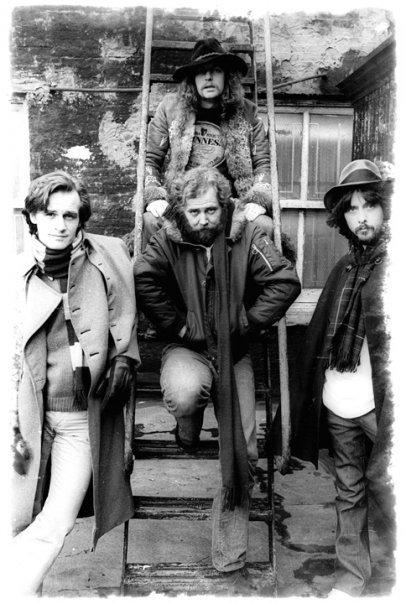The Studio: BerniWrightson (left), William Michael Kaluta (middle), Jeff Jones (right), Barry Windsor-Smith (back)