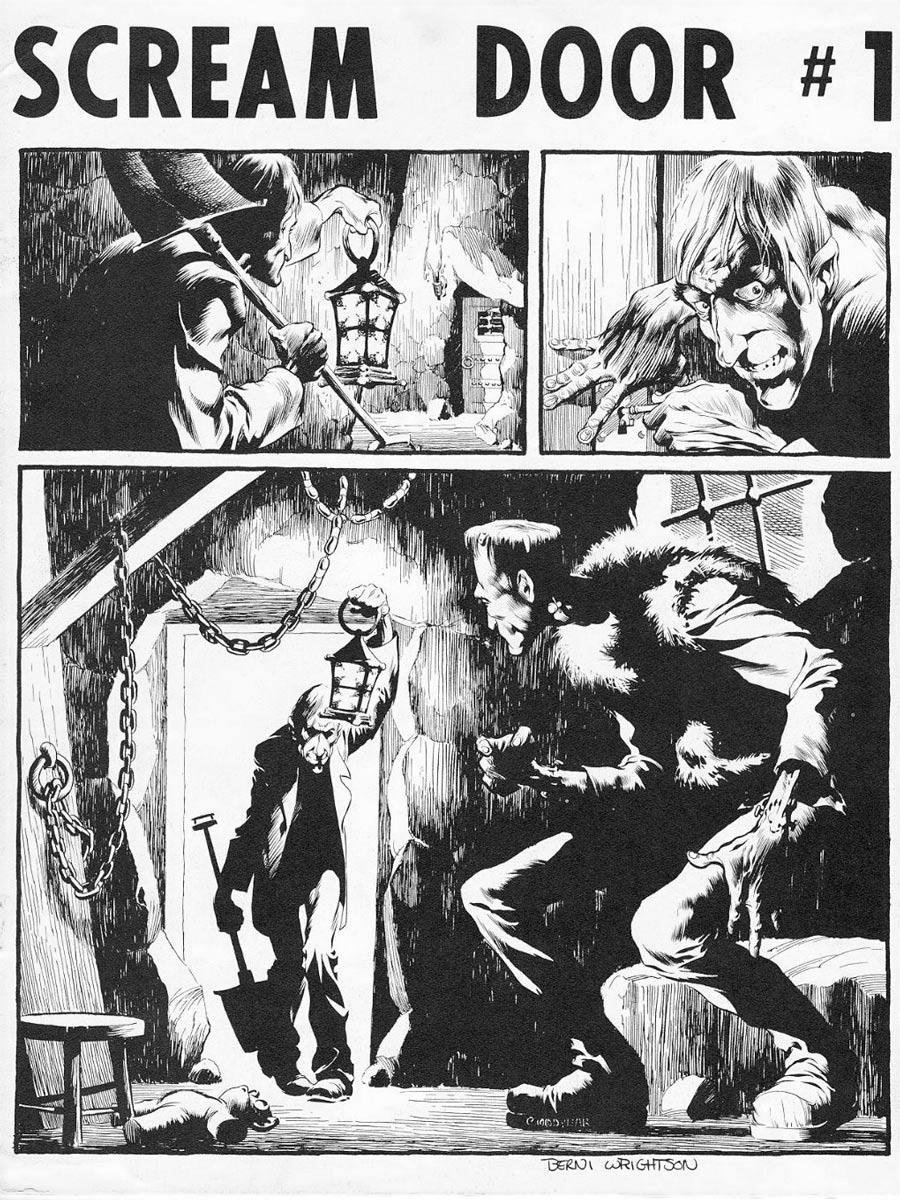 Scream Door (1971) #1, cover by Berni Wrightson.