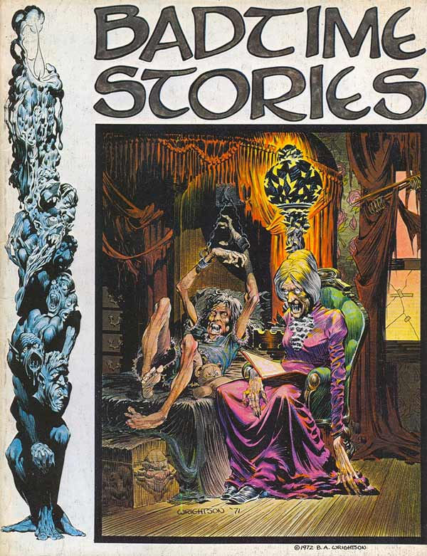 Badtime Stories (1972) OGN, cover by Berni Wrightson.