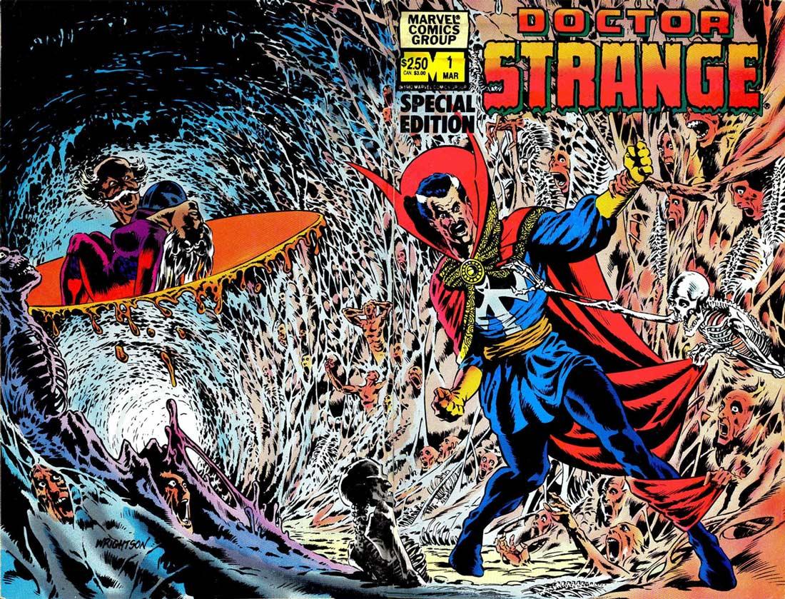 Doctor Strange-Silver Dagger (1983) #1, cover by Berni Wrightson.