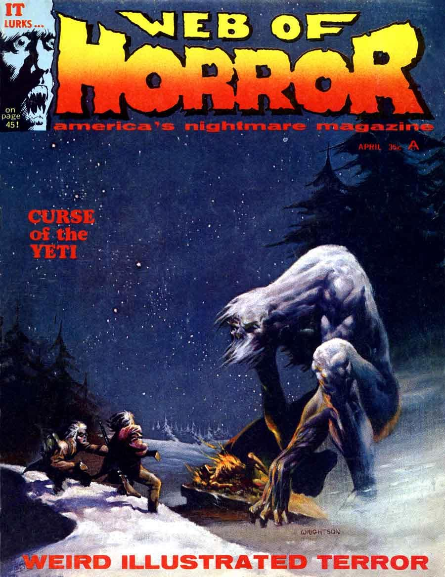 Web of Horror (1969) #3, cover by Berni Wrightson.