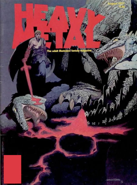 Heavy Metal (1977) #5, cover by Berni Wrightson.