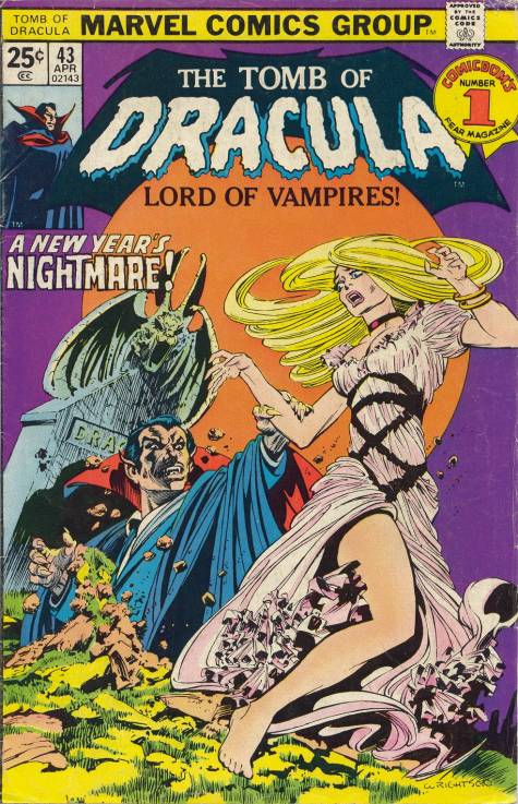 Tomb of Dracula (1972) #43, cover by Berni Wrightson.