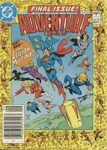 Adventure Comics (1938) #503, cover penciled by Ross Andru and inked by Joe Rubinstein.