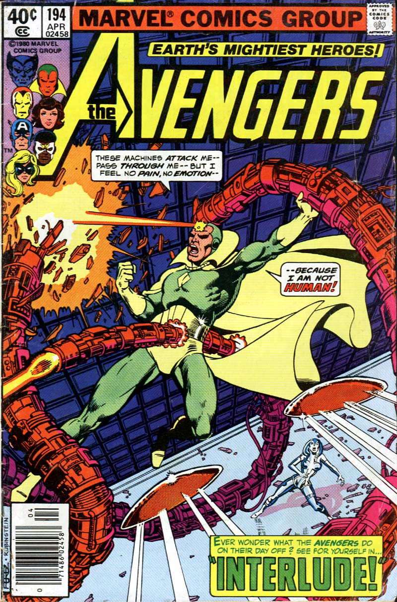 Avengers, The (1963) #194, cover penciled by George Perez and inked by Joe Rubinstein.