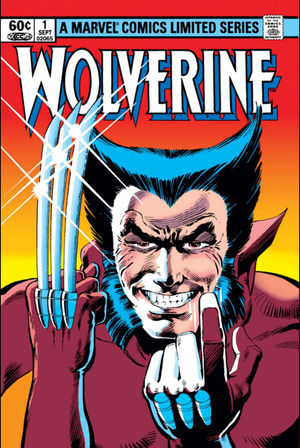 Wolverine (1982) #1, cover penciled by Frank Miller and inked by Joe Rubinstein.