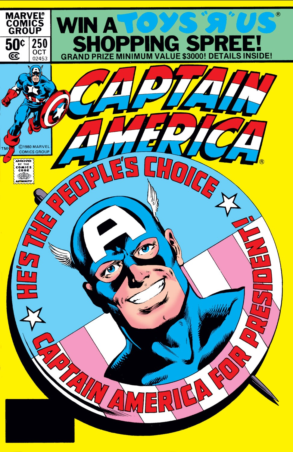 Captain America (1968) #250, cover penciled by John Byrne and inked by Joe Rubinstein.