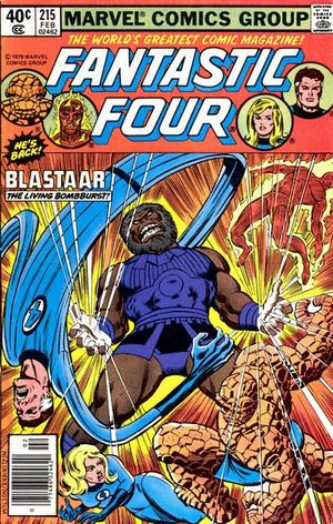 Fantastic Four (1961) #215, cover penciled by Ron Wilson and inked by Joe Rubinstein.