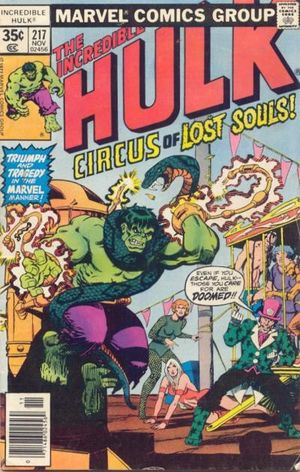 Incredible Hulk (1968) #217, cover penciled by Jim Starlin and inked by Joe Rubinstein.