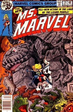 Ms. Marvel (1977) #21, cover penciled by Dave Cockrum and inked by Joe Rubinstein.