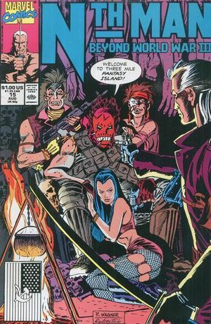 Nth Man (1989) #15, cover penciled by Ron Wagner and inked by Joe Rubinstein.