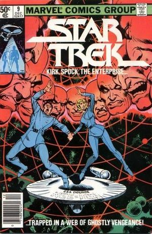 Star Trek (1980) #9, cover penciled by Dave Cockrum and inked by Joe Rubinstein.