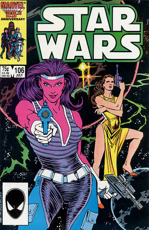 Star Wars (1977) #106, cover penciled by Cynthia Martin and inked by Joe Rubinstein.