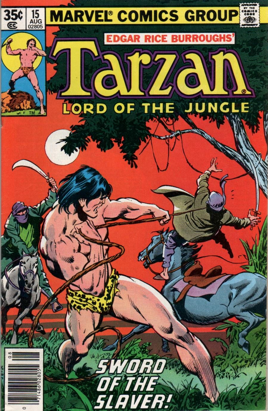 Tarzan (1977) #15, cover penciled by John Buscema and inked by Joe Rubinstein.