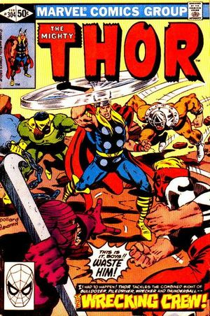 Thor (1966) #304, cover penciled by Keith Pollard and inked by Joe Rubinstein.