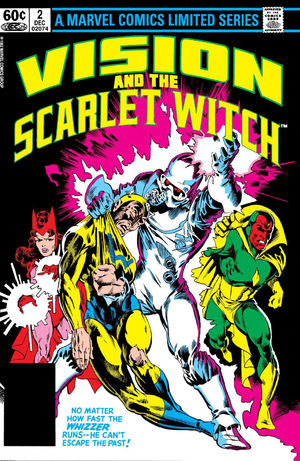 Vision and the Scarlet Witch (1982) #2, cover penciled by Rick Leonardi and inked by Joe Rubinstein.