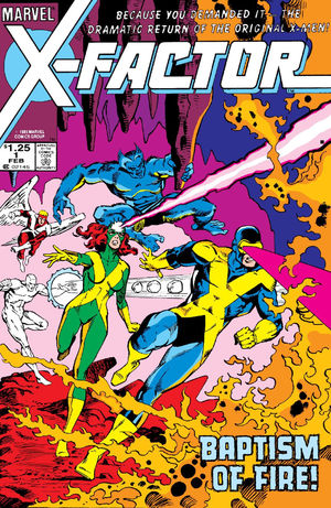 X-Factor (1986) #1, cover penciled by Walt Simonson and inked by Joe Rubinstein.