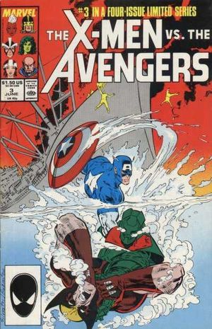 X-Men vs Avengers (1987) #3, cover penciled by Marc Silvestri and inked by Joe Rubinstein.