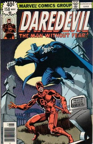 Daredevil (1964) #158, cover penciled by Frank Miller and inked by Joe Rubinstein.