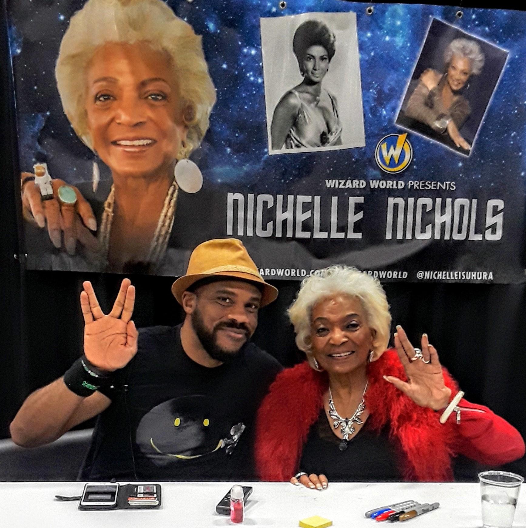 R. Alan Brooks  with  Nichelle Nichols  at Wizard World Des Moines 2018.