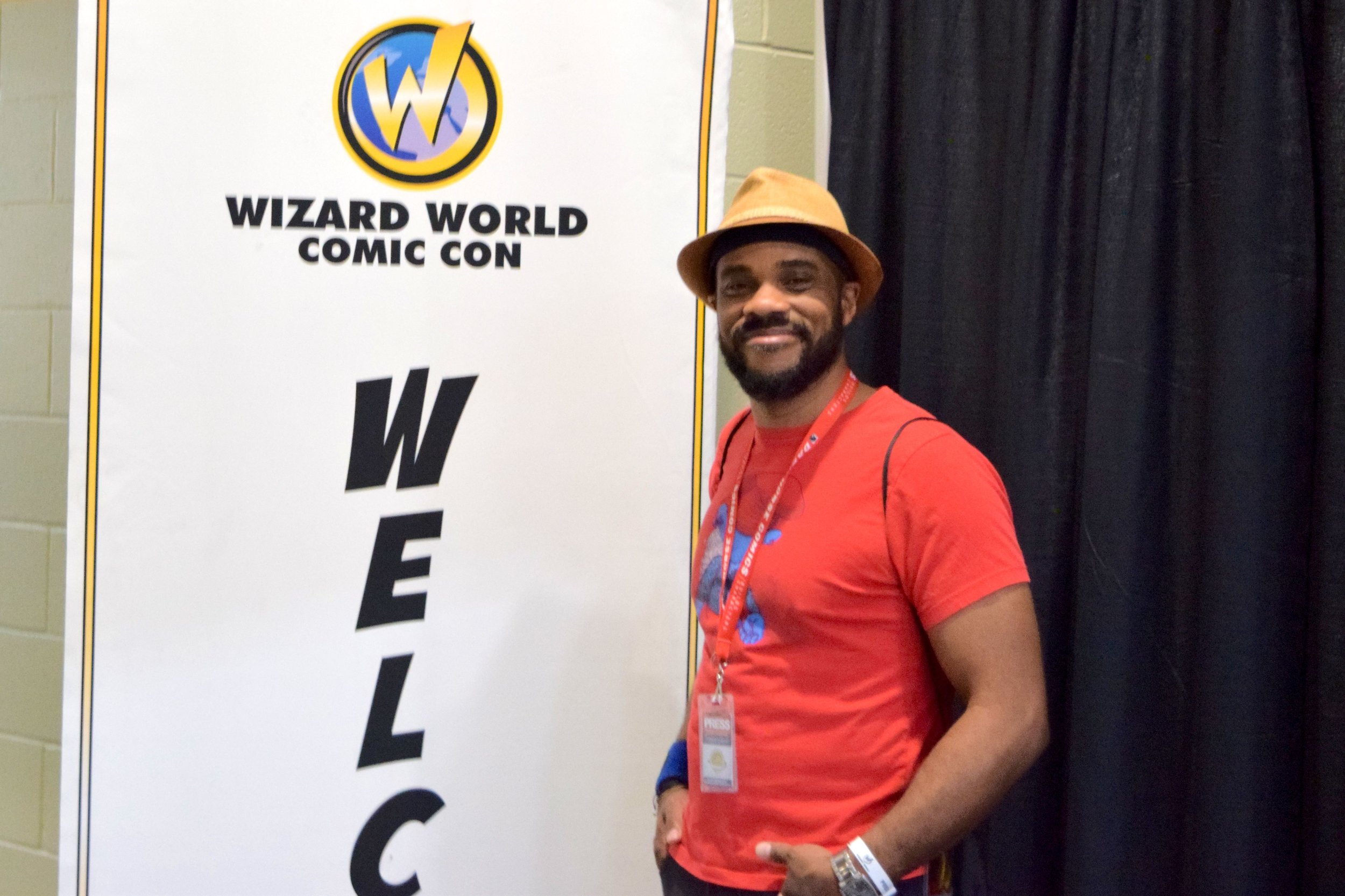 R. Alan Brooks, covering the convention for Nerd Team 30!