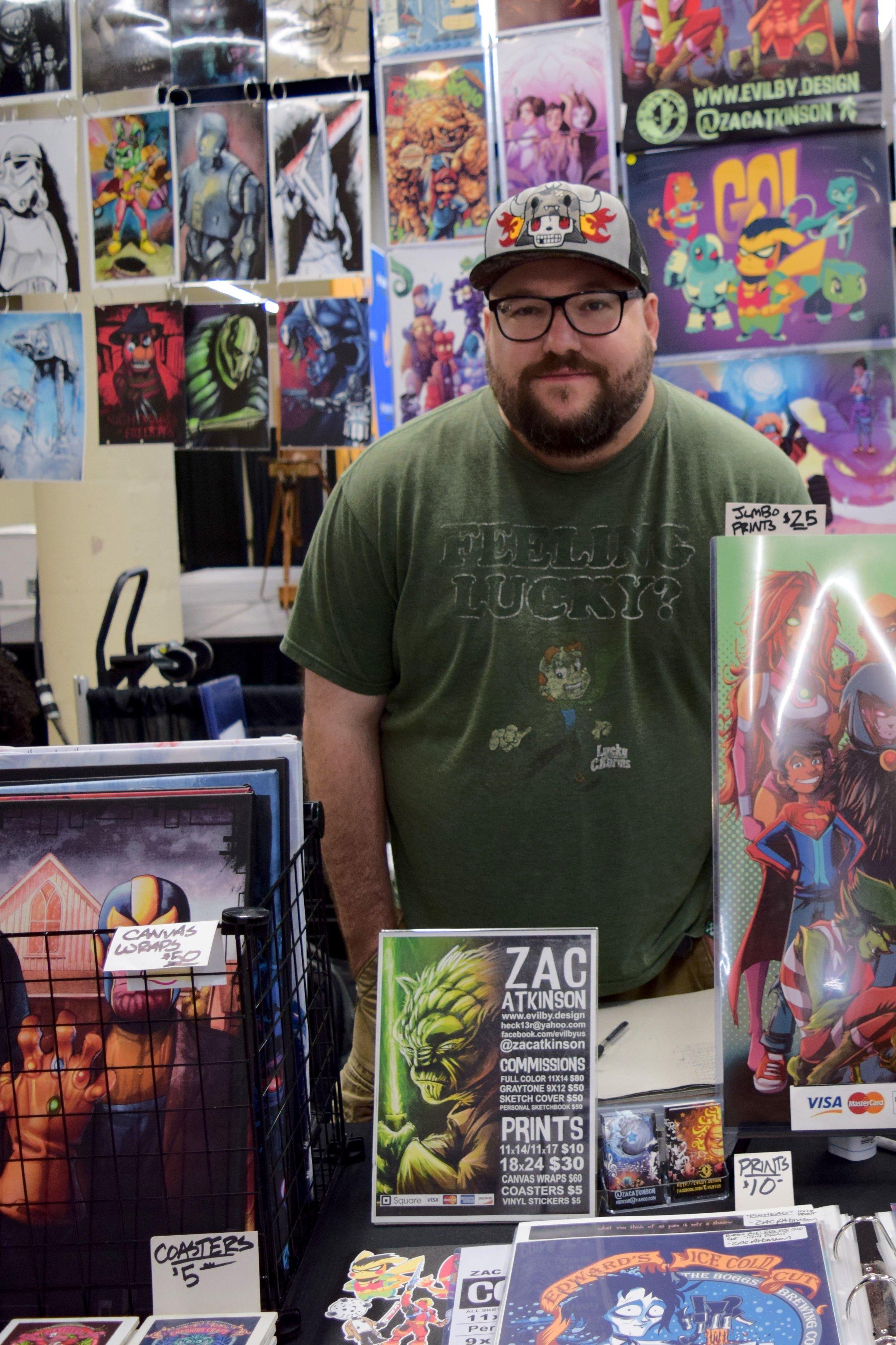 Zac Atkinson  at Wizard World Des Moines 2018.